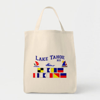 Lake Tahoe NV Signal Flags Tote Bag