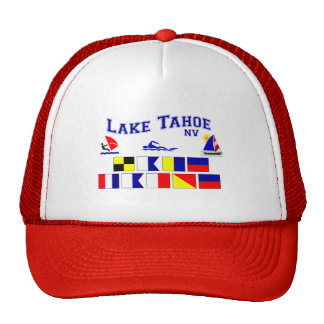 Lake Tahoe NV Signal Flags Trucker Hat