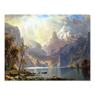 Lake Tahoe painting Nevada art by Albert Bierstadt 4.25x5.5 Paper Invitation Card