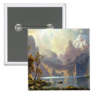 Lake Tahoe painting Nevada art by Albert Bierstadt Buttons