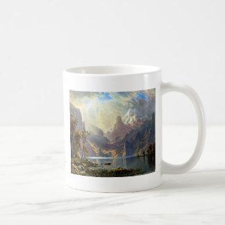 Lake Tahoe painting Nevada art by Albert Bierstadt Classic White Coffee Mug