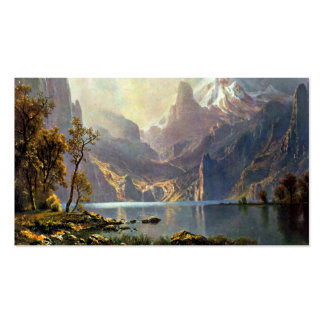 Lake Tahoe painting Nevada art by Albert Bierstadt Double-Sided Standard Business Cards (Pack Of 100)