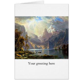 Lake Tahoe painting Nevada art by Albert Bierstadt Greeting Card