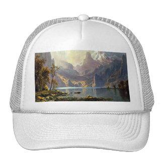 Lake Tahoe painting Nevada art by Albert Bierstadt Mesh Hat