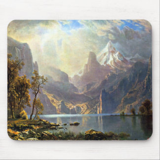 Lake Tahoe painting Nevada art by Albert Bierstadt Mouse Pad