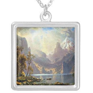 Lake Tahoe painting Nevada art by Albert Bierstadt Custom Necklace