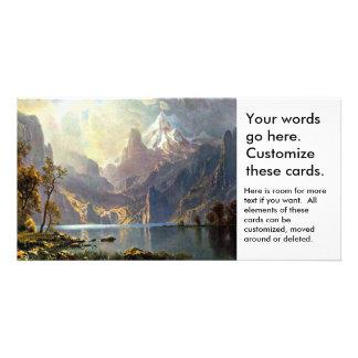 Lake Tahoe painting Nevada art by Albert Bierstadt Photo Greeting Card