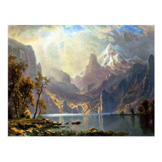 Lake Tahoe painting Nevada art by Albert Bierstadt Postcard