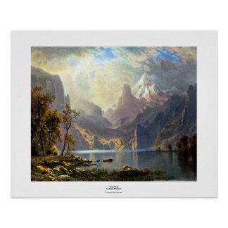 Lake Tahoe painting Nevada art by Albert Bierstadt Poster