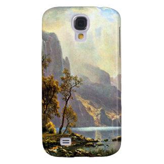 Lake Tahoe painting Nevada art by Albert Bierstadt Samsung Galaxy S4 Case