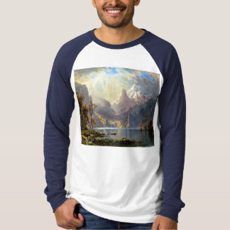 Lake Tahoe painting Nevada art by Albert Bierstadt T-Shirt
