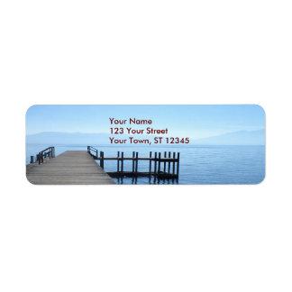 Lake Tahoe Pier Label