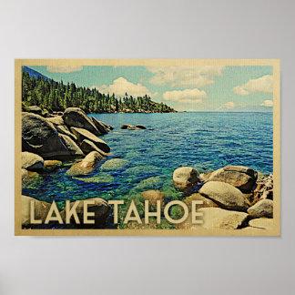 Lake Tahoe Poster Vintage Travel Art
