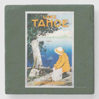 Lake Tahoe Promotional PosterLake Tahoe, CA Stone Beverage Coaster