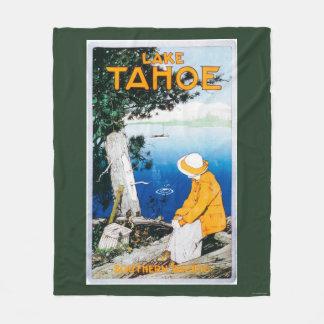 Lake Tahoe Promotional PosterLake Tahoe, CA Fleece Blanket