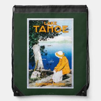 Lake Tahoe Promotional PosterLake Tahoe, CA Drawstring Backpack