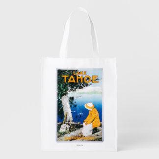 Lake Tahoe Promotional PosterLake Tahoe, CA Reusable Grocery Bags
