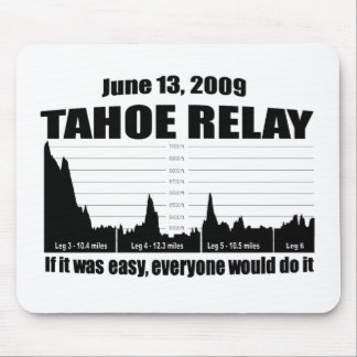 Lake Tahoe Relay Mouse Pad