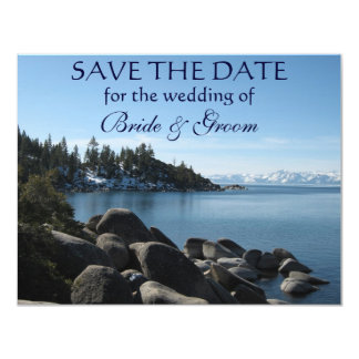 Lake Tahoe Save-the-Date 4.25x5.5 Paper Invitation Card