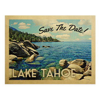 Lake Tahoe Save The Date Vintage Postcards