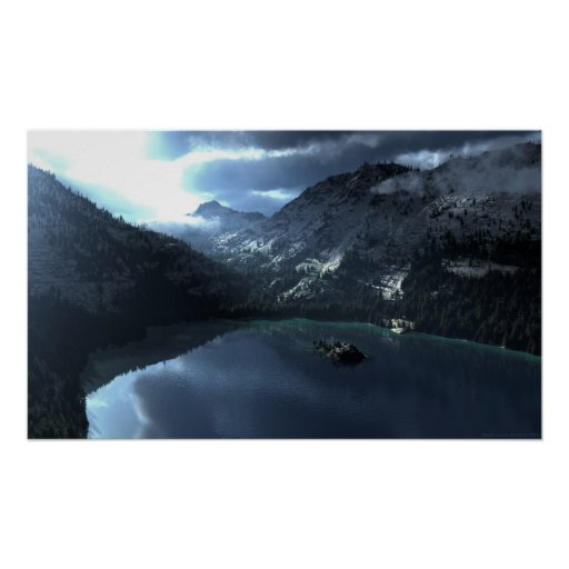 Lake Tahoe Storm Print