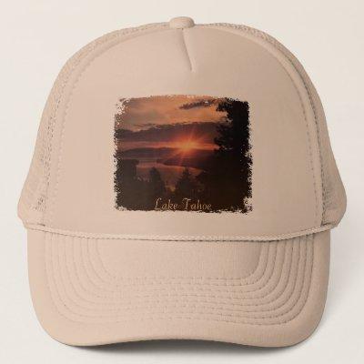 89caa8611 Lake Tahoe Vintage Travel Decal Design Trucker Hat   Zazzle.com