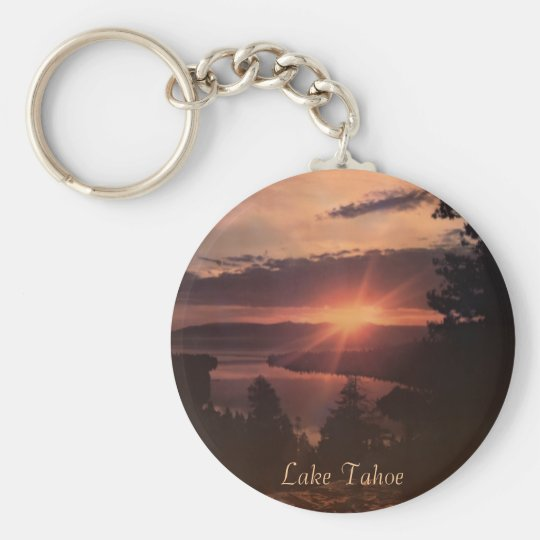 Lake Tahoe Sunrise Keychain