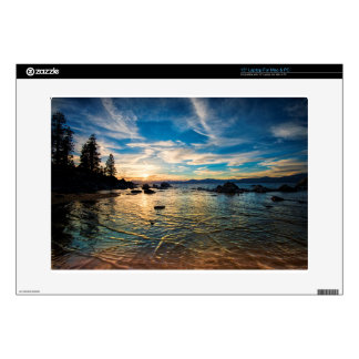 "Lake Tahoe Sunset 15"" Laptop Decal"