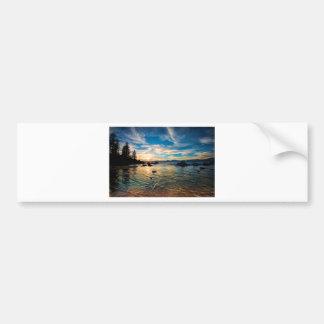 Lake Tahoe Sunset Car Bumper Sticker