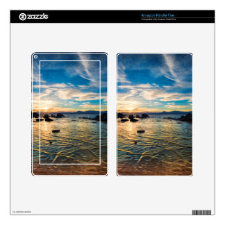 Lake Tahoe Sunset Decals For Kindle Fire