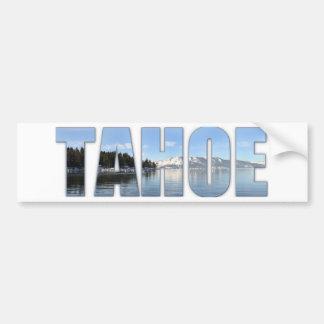 Lake Tahoe Text Car Bumper Sticker