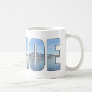 Lake Tahoe Text Coffee Mug
