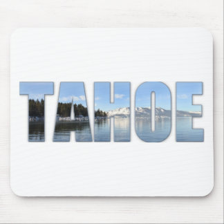 Lake Tahoe Text Mouse Pad