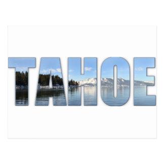 Lake Tahoe Text Post Card