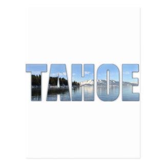 Lake Tahoe Text Postcard
