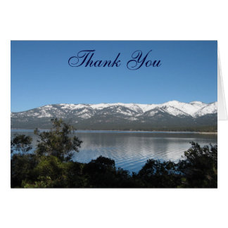 Lake Tahoe Thank You Stationery Note Card