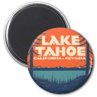 Lake Tahoe Vintage Travel Decal Design Magnet