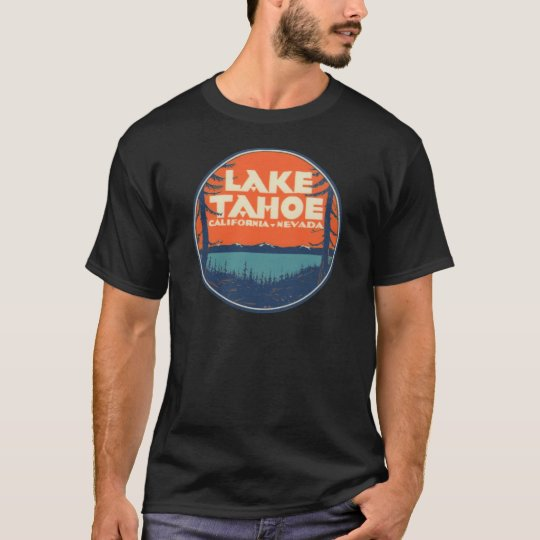 df524a5f1 Lake Tahoe Vintage Travel Decal Design T-Shirt