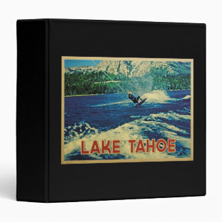 Lake Tahoe Water Skier 3 Ring Binder