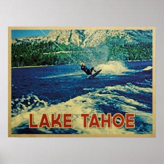 Lake Tahoe Water Skier Poster