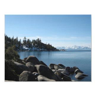 Lake Tahoe Wedding 4.25x5.5 Paper Invitation Card