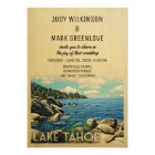 Lake Tahoe Wedding Invitation Vintage Mid-Century