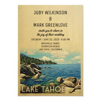 Lake Tahoe Wedding Invitation Vintage Mid-Century
