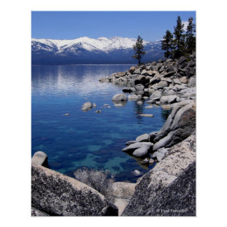 Lake Tahoe Winter Still water 2 Poster
