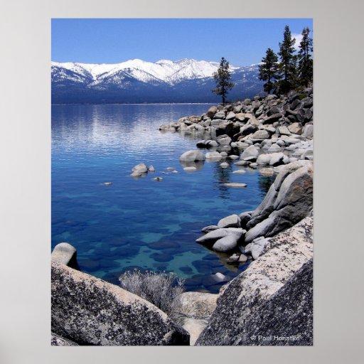 Lake Tahoe Winter Still water 2 Print