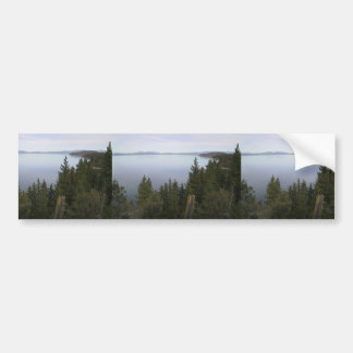 Lake Tahoe With Pine Trees Car Bumper Sticker