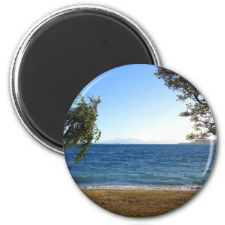 Lake Taupo in the Evening Light, New Zealand. 2 Inch Round Magnet
