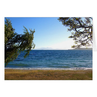 Lake Taupo in the Evening Light, New Zealand. Card