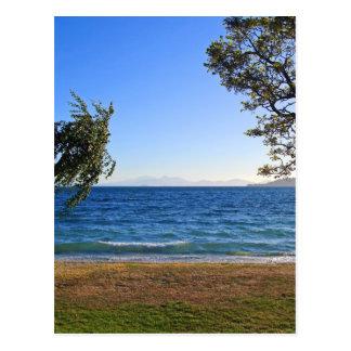 Lake Taupo, New Zealand Postcard