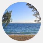 Lake Taupo, New Zealand Round Sticker